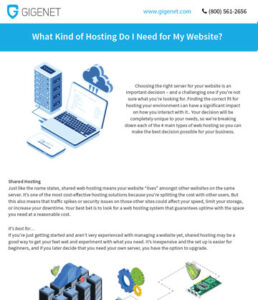 whitepaper what hosting you need