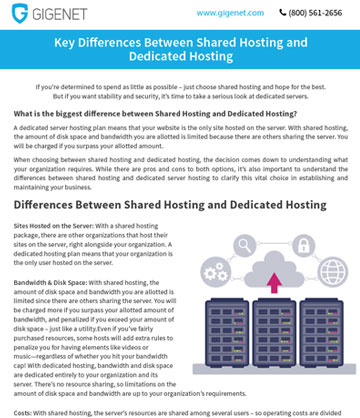 whitepaper Differences between Shared Hosting and Dedicated Hosting